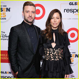 Justin Timberlake & Wife Jessica Biel Accept Honors at the GLSEN Respect Awards