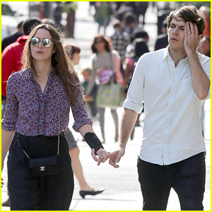 Keira Knightley Keeps a Wrist Splint on While Out with Husband James Righton