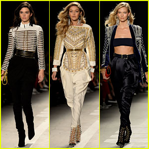 Kendall Jenner, Gigi Hadid, & Karlie Kloss Walk the Balmain x H&M Runway!