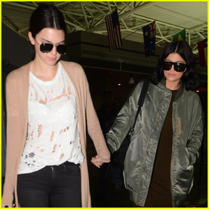 Kendall Jenner Walks Hand-in-Hand With Kylie for NYC Arrival