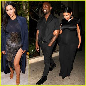 Kim Kardashian & Kanye West Bring Their Style to the CFDA/Vogue Fashion Fund Show