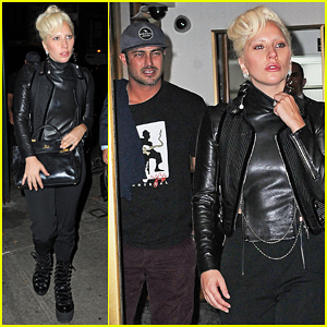 Lady Gaga Steps Out For Sunday Night Dinner with Fiance Taylor Kinney!