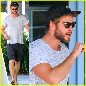 Liam Hemsworth Looks Ripped on the Beach After Surfing