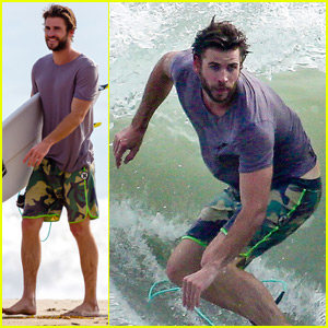 Liam Hemsworth Hits the Waves for a Malibu Surf Session