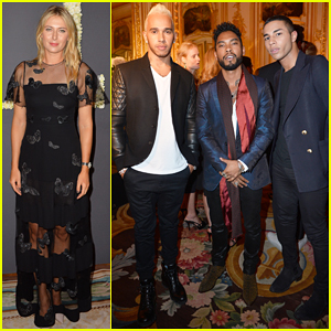 Maria Sharapova Joins Miguel & Lewis Hamilton At 'Elle' Mag Anniversary Celebration!