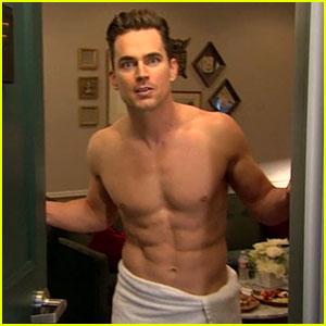 Matt Bomer Went Shirtless in a Towel for James Corden!