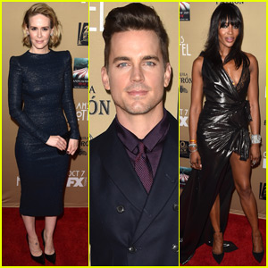 Matt Bomer & Sarah Paulson Premiere 'American Horror Story: Hotel' With Naomi Campbell in L.A.