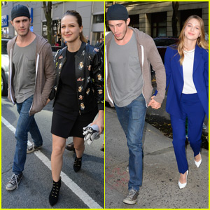 Melissa Benoist Gets Support From Hubby Blake Jenner During 'Supergirl' Promo in the Big Apple