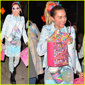 Miley Cyrus Carries a Cup of Unicorn Tears in New York City