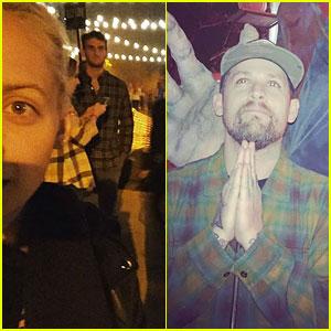 Nicole Richie & Joel Madden Brave the LA Haunted Hayride!