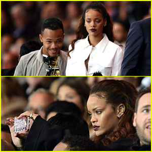 Rihanna Perfects Her Selfie Game at PSG Soccer Match