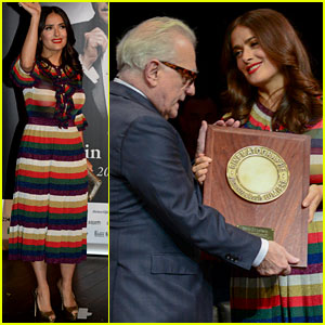 Salma Hayek Honors Martin Scorsese at Lumiere Film Festival