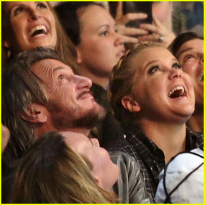 Amy Schumer & Sean Penn Sit Front Row at Madonna's Concert