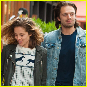 Sebastian Stan & Girlfriend Margarita Levieva Stroll Through NYC With Their Pup