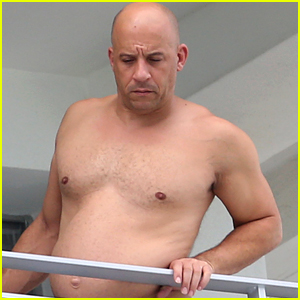Vin Diesel Goes Shirtless in Miami, Meets P