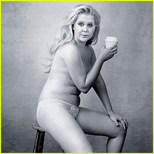 Amy Schumer Goes Topless, Shares Poignant Caption for Pirelli Calendar