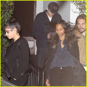 Ashton Kutcher & Mila Kunis Double Date with Zoe Saldana & Her Husband!