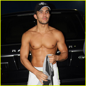 Carlos PenaVega Flaunts Chiseled Abs Outside 'DWTS' Studio