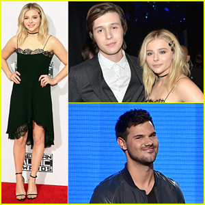 Chloe Moretz & Nick Robinson Make Waves at AMAs 2015 with Taylor Lautner!