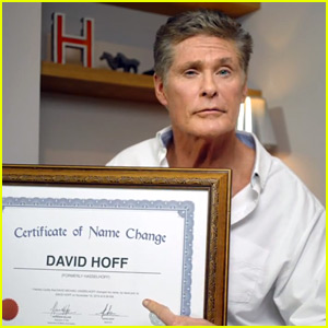 David Hasselhoff Changes His Name to 'David Hoff' (Video)