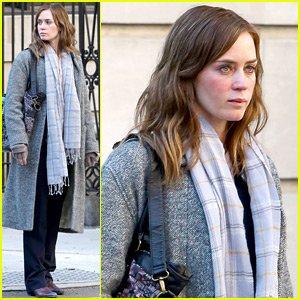 Emily Blunt Seen Filming 'Girl on the Train' - First On Set Photos!