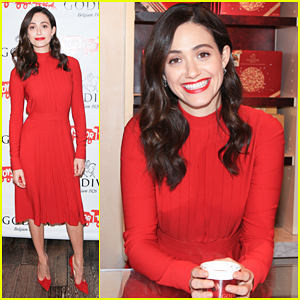 Emmy Rossum Hosts Hot Chocolate For A Cause Benefit!