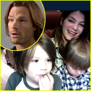 Jared Padalecki Skypes with Wife & Kid