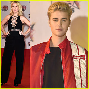 Justin Bieber Joins Ellie Goulding At NRJ Music Awards in France