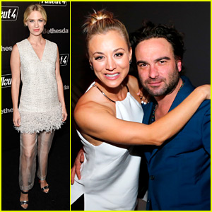 Kaley Cuoco & Johnny Galecki Have a BFFs Night Out