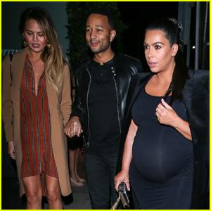 Kim Kardashian & Kanye West Double Date With Fellow Expecting Couple Chrissy Teigen & John Legend!