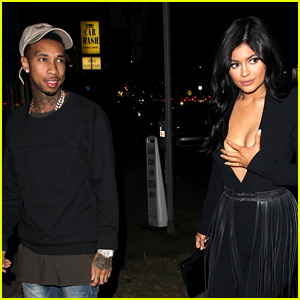 Kylie Jenner Wears a Low-Cut Top on Date Night with Tyga!