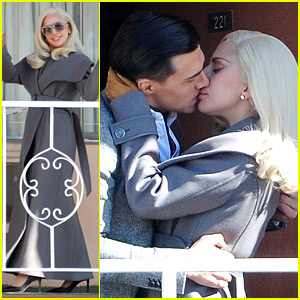 Lady Gaga Makes Out with Finn Wittrock on 'AHS: Hotel' Set!