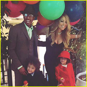 Mariah Carey Spends Thanksgiving with Nick Cannon & the Kids