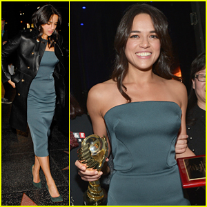 Michelle Rodriguez Represents 'Furious 7' At Chinese American Film Festival!