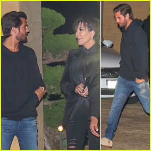 Scott Disick & Kris Jenner Do Dinner in Malibu