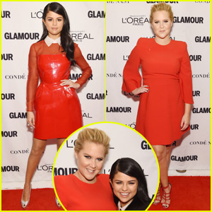Selena Gomez & Amy Schumer Team Up on Glamour Women of the Year Awards 2015 Red Carpet