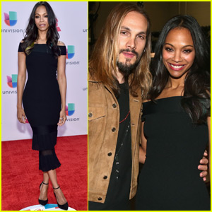 Zoe Saldana & Marco Perego Couple Up at the Latin Grammys 2015