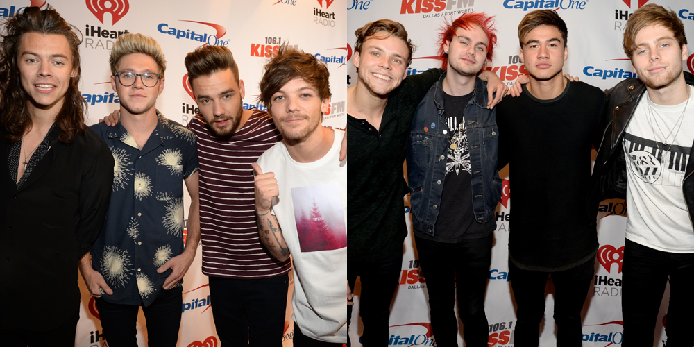 One Direction Amp 5 Seconds Of Summer Hit Up Jingle Ball