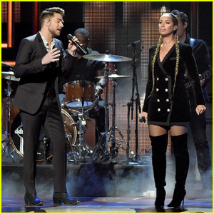 Adam Lambert Sings 'Girl Crush' With Leona Lewis at CMT Artists of the Year 2015 - Watch Now!