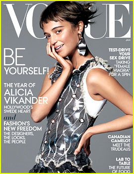 Alicia Vikander Lands Her First 'Vogue' Cover for January 2016