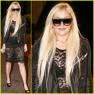Amanda Bynes Celebrates the Holidays in a Sheer Dress