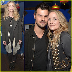 Amber Heard & Taylor Lautner Celebrate Timberland with Stylist Samantha McMillen