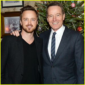 Aaron Paul Reunites with Bryan Cranston At NYC Celebration!
