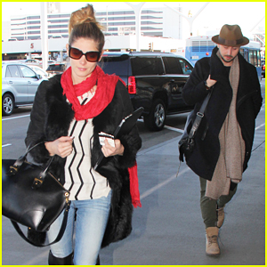 Ashley Greene & Paul Khoury Leave Los Angeles for Holiday In Aspen!