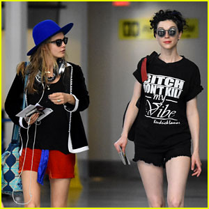 Cara Delevingne & St. Vincent Return From Barbados Vacation