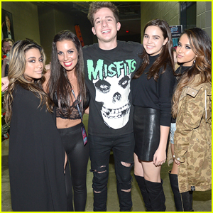 Charlie Puth Gets Attention From Beautiful Girls at Y100's Jingle Ball 2015