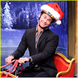 Chris Hemsworth Goes for a Sleigh Scooter Race on 'Fallon'