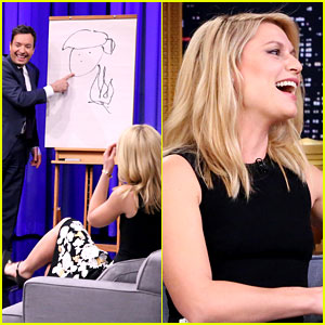 Claire Danes Perfectly Draws Trump During Fallon's Pictionary