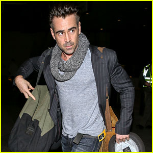 Colin Farrell Looks Super Sexy for His Flight to Los Angeles