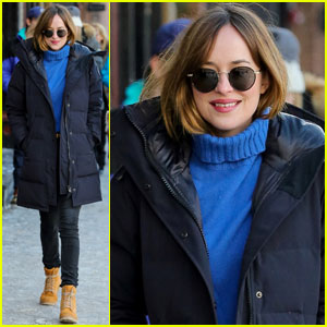 Dakota Johnson Bundles Up for the New Year in Aspen